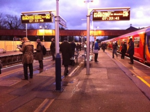 Twickenham Station commuters