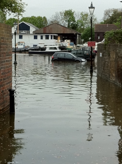 Flooding by St Mary's Church