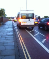 London Road bike (and van) lane