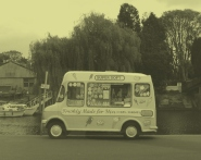 Twickenham Ice Cream Van in B&W