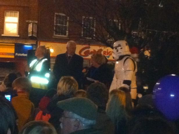 Twickenham Christmas Tree & Storm Trooper