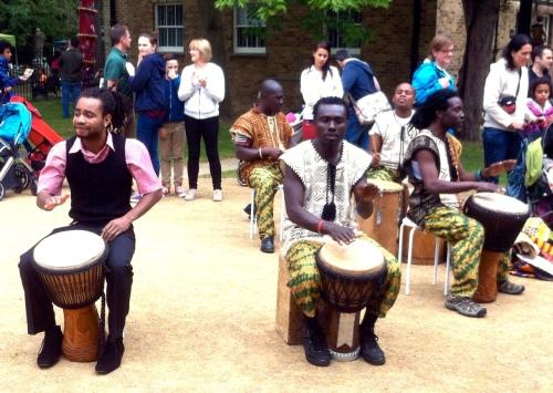 Drummers at Twickenham Carnival