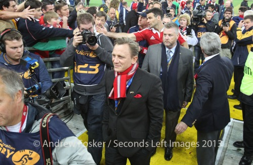 Daniel Craig celebrating with the Lions copyright Andrew Fosker / Seconds Left Images]