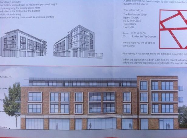 Possible plans for corner of Heath Road & Heath Gardens, TW1