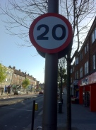 20mph on Heath Road (on both sides)