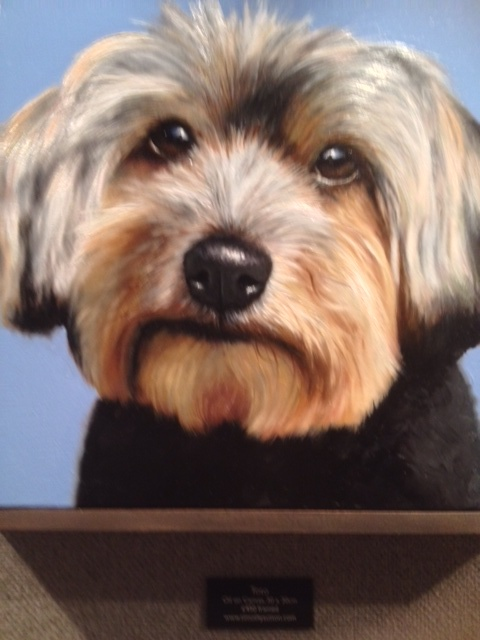 Here's Toto... in oil no less. (Photo: H family, TW1)