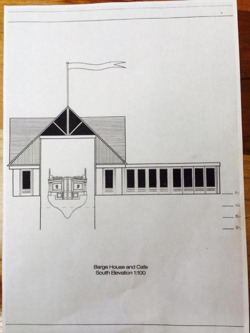 Gloriana Boathouse Plan, Twickenham