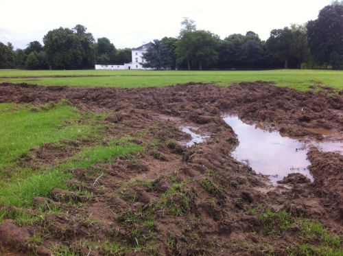 Marble Hill House - mud - June 2014