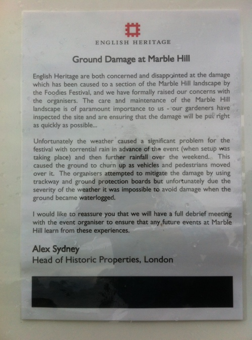 Marble Hill House - sign June 14