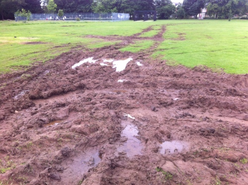 Marble Hill Park - mud (June 14)