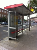 A new bus stop... in Twickenham