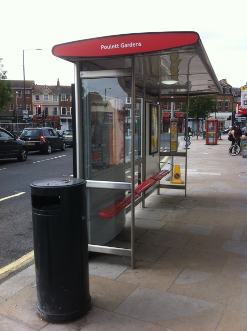 Another new bus stop...