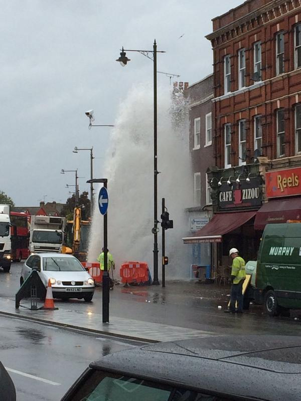 Nice one, geyser. [Photo courtesy of @DPBedford on Twitter]