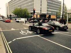 London Road - advance cycle stop