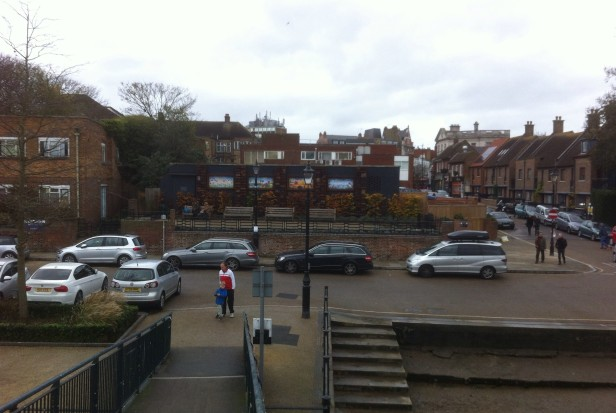 Twickenham Embankment from Eel Pie Bridge