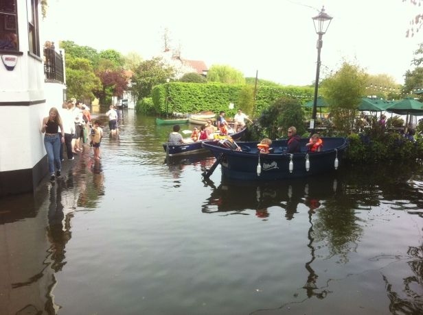 Arriving at The White Swan in style