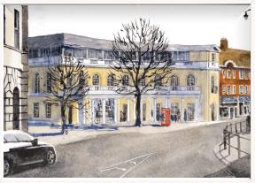 Initial design for town square Twickenham (image: LBRuT)