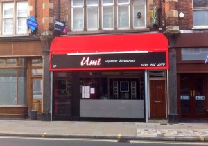 Umi. Japanese on York Street Twickenham
